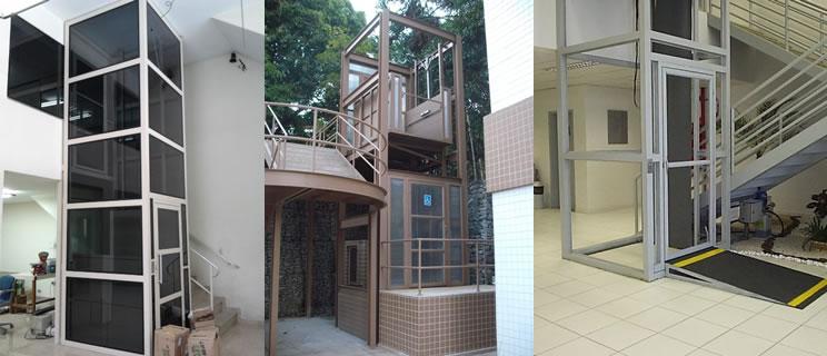 estrutura metalica para elevador